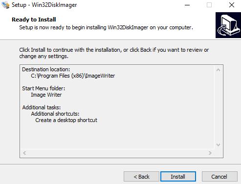 instalacion win 32 disk imager