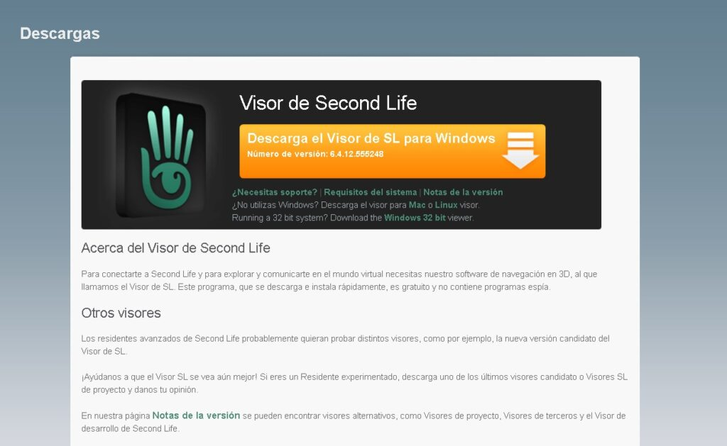 descargar Second Life