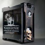 Regalamos una PC para juegos Black Geyser con una carcasa de calavera bastante enferma
