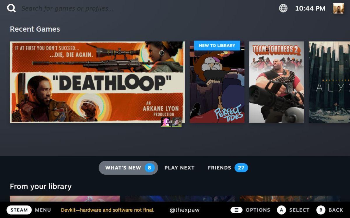 Así es como se verá la interfaz de usuario de Steam Deck en su escritorio