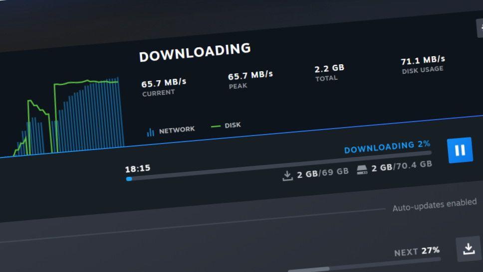 Steam ahora tiene una mejor página de descargas y Administrador de almacenamiento