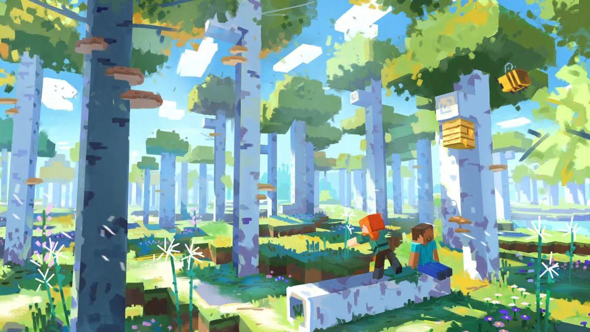 El próximo gran lanzamiento de Minecraft se llama The Wild Update, disponible en 2022
